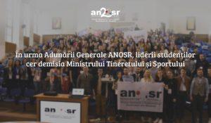 Liderii studenților cer demisia ministrului tineretului și sportului