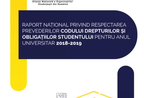 Lansarea Raportului național privind respectarea Codului drepturilor și obligațiilor studentului pentru anul universitar 2018-2019