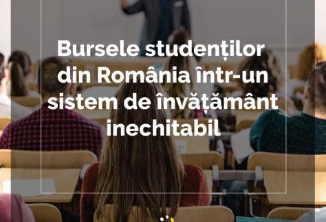 """Analiză ANOSR: """"Sistemul de acordare a burselor în universitățile din România: cum combaterea inechităților generează discriminare"""""""
