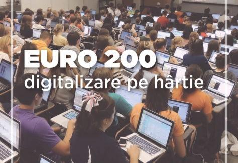 Euro 200 – digitalizare pe hârtie