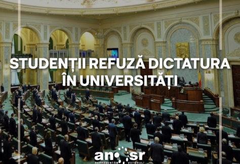 Studenții refuză dictatura în universități